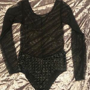 Trippy mesh bodysuit 🖤